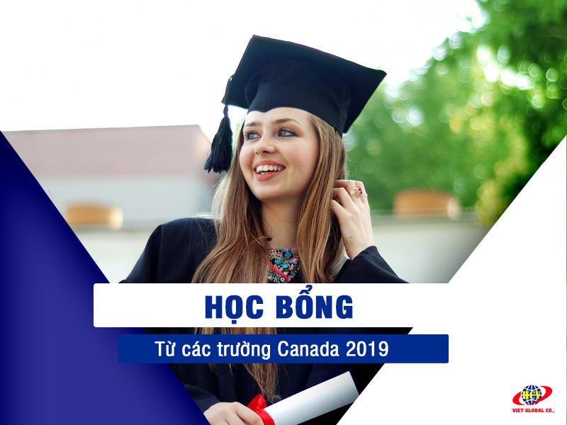 Du học Canada: Học bổng từ các trường Canada năm 2019