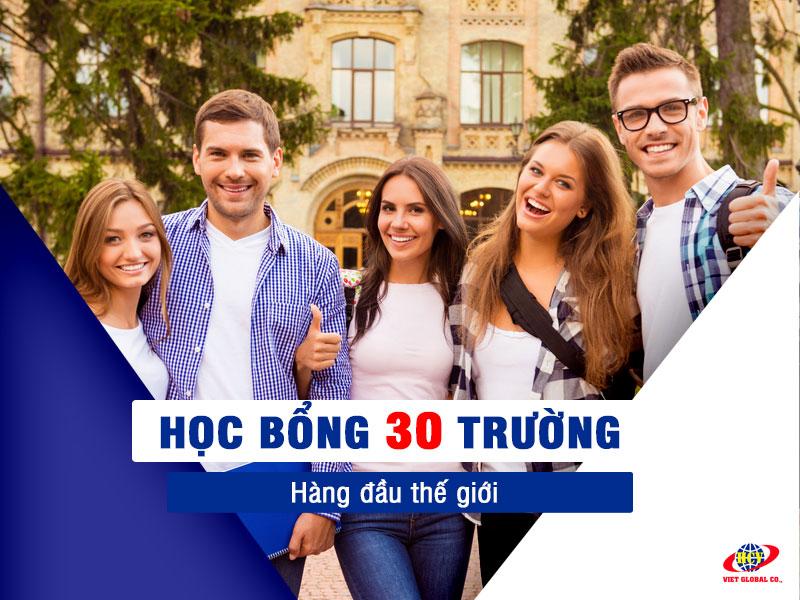 Học bổng từ 30 trường hàng đầu thế giới