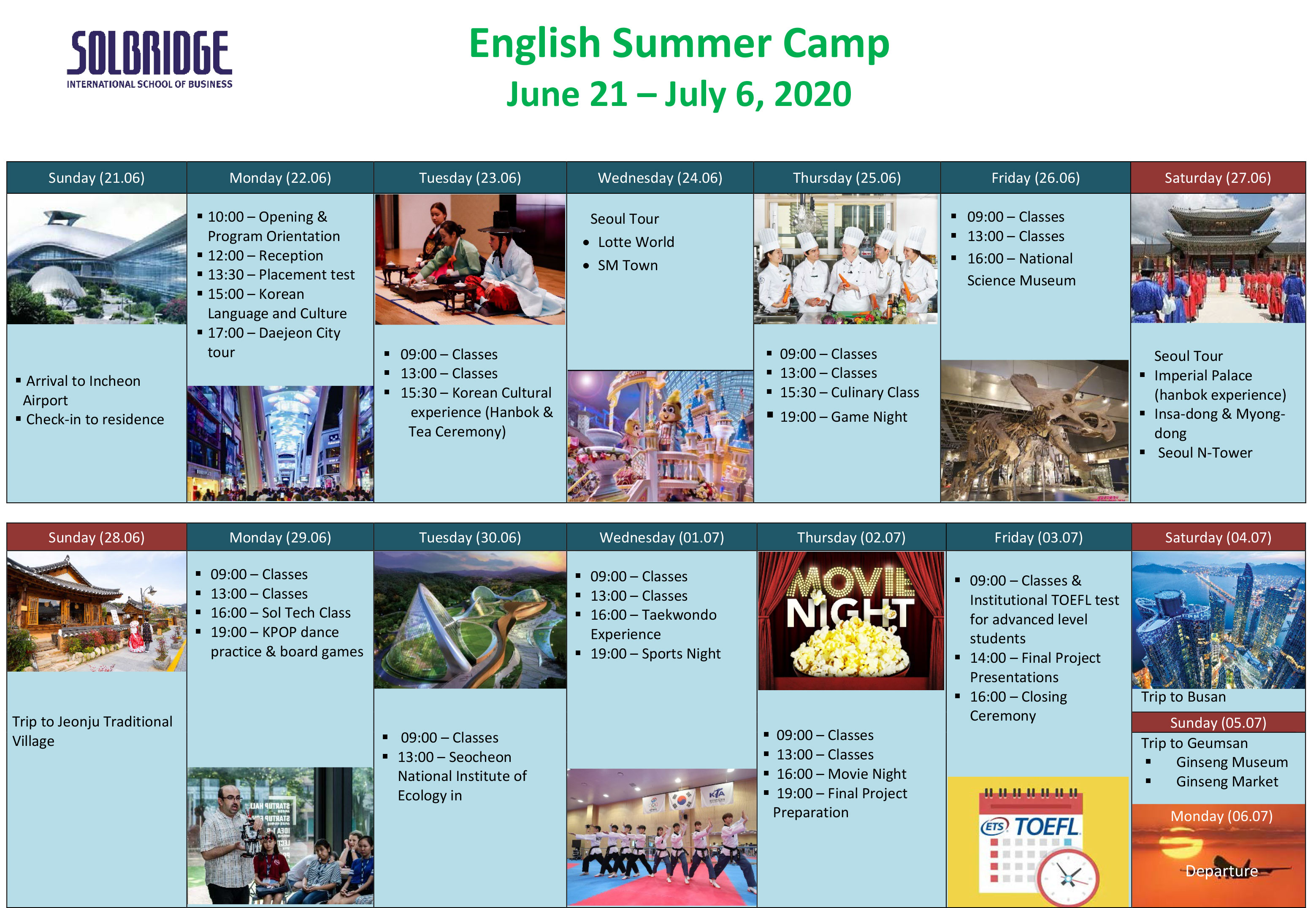 English Camp SolBridge