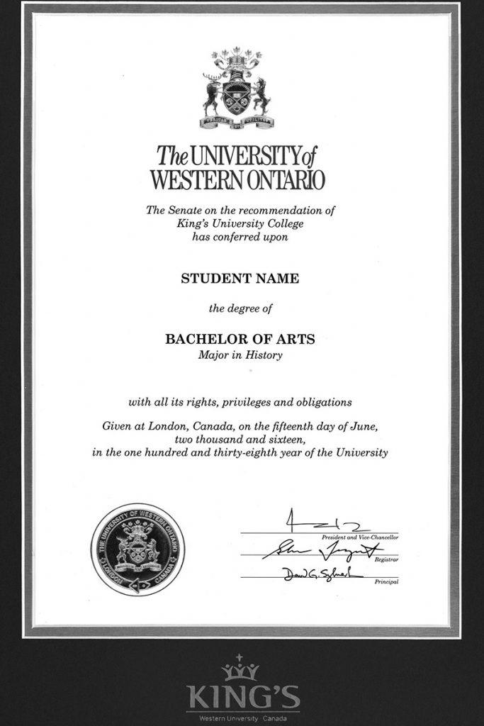 Bằng cấp của King's University