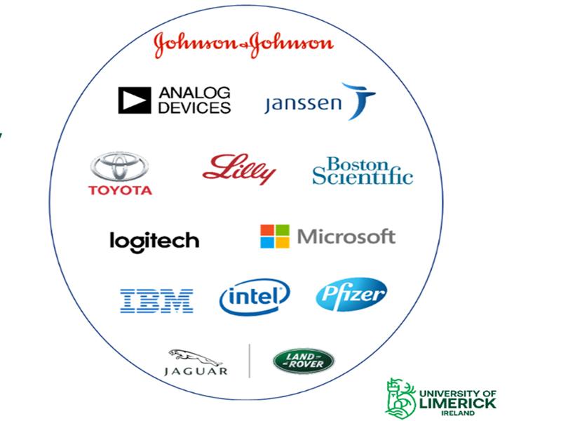 Các tập đoàn đối tác của Đại học Limẹrick