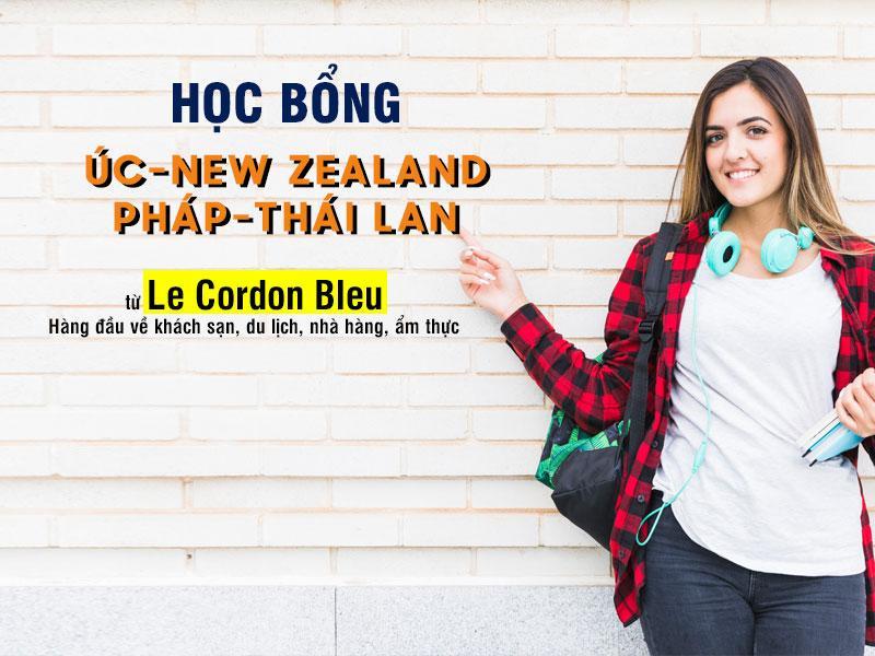 Học bổng Úc-New Zealand-Pháp-Thái Lan từ Le Cordon Bleu: Hàng đầu về khách sạn, du lịch, nhà hàng, ẩm thực