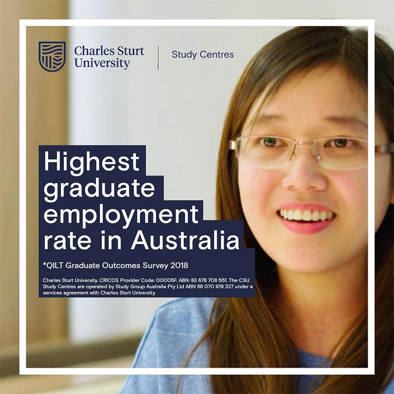 CSU Có Tỉ lệ sinh viên có việc làm sau tốt nghiệp cao nhất ở Úc