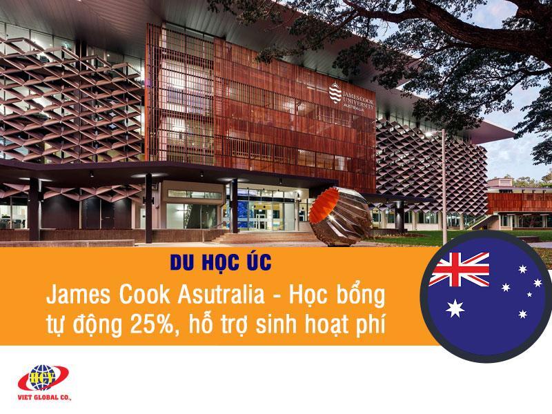 Du học Úc: James Cook Australia – Học bổng tự động 25%, hỗ trợ sinh hoạt phí